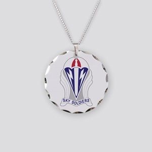 Unit Insignia: 173rd Airborn Necklace Circle Charm