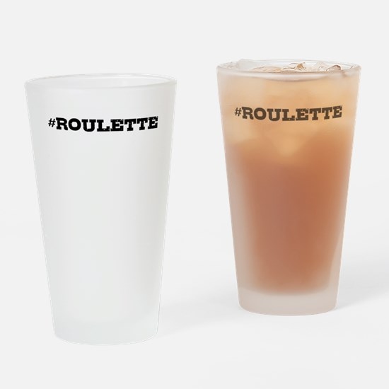 Roulette Hashtag Drinking Glass