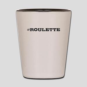 Roulette Hashtag Shot Glass