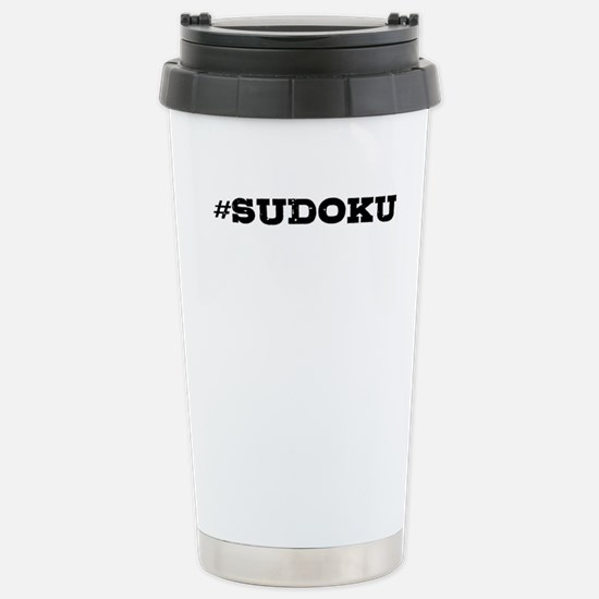 Sudoku Hashtag Travel Mug