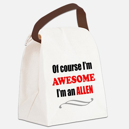 Funny Allen quote Canvas Lunch Bag