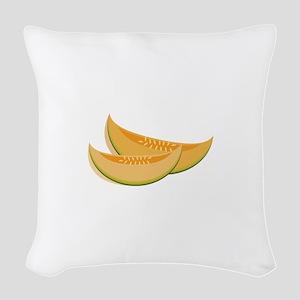 Cantaloupe Woven Throw Pillow