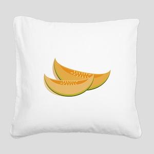 Cantaloupe Square Canvas Pillow