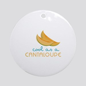 Cool As Cantaloupe Ornament (Round)