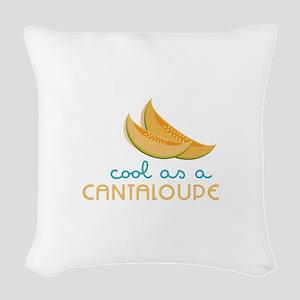 Cool As Cantaloupe Woven Throw Pillow