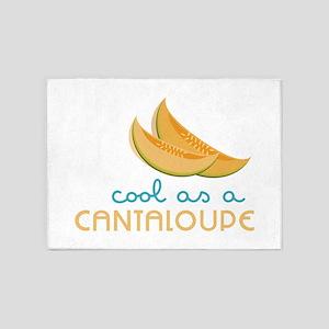 Cool As Cantaloupe 5'x7'Area Rug