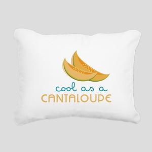 Cool As Cantaloupe Rectangular Canvas Pillow