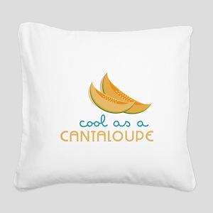 Cool As Cantaloupe Square Canvas Pillow