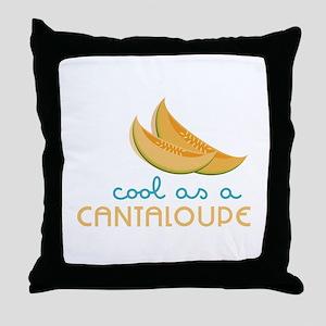 Cool As Cantaloupe Throw Pillow
