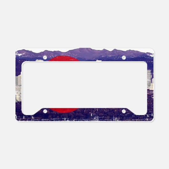 Denver Flag Skyline License Plate Holder