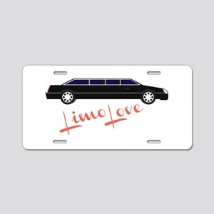 Limo Love Aluminum License Plate