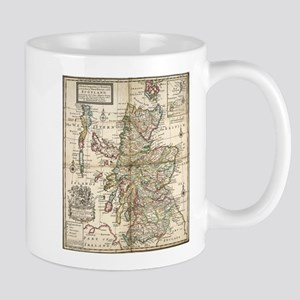Vintage Map of Scotland (1718) Mugs