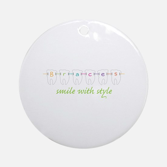 Smile With Style Ornament (Round)