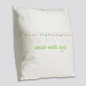 Smile With Style Burlap Throw Pillow