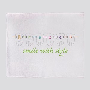 Smile With Style Throw Blanket
