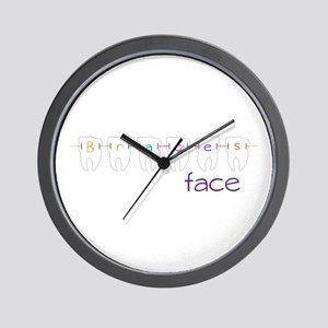 Braces Face Wall Clock