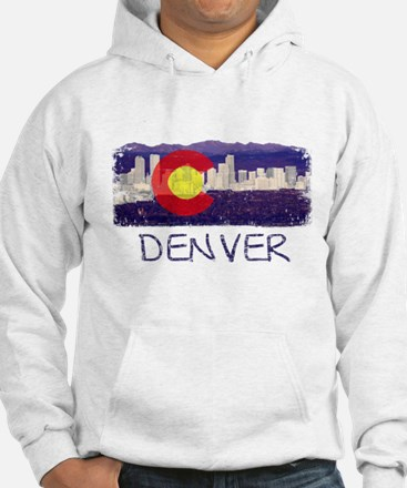 Denver Skyline Flag Jumper Hoody