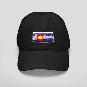 Denver Skyline Flag Black Cap
