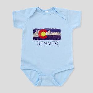 Denver Skyline Flag Infant Bodysuit