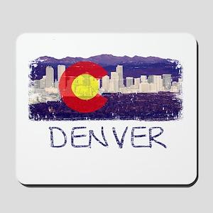 Denver Skyline Flag Mousepad