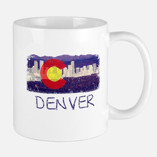 Denver Skyline Flag Mug