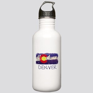 Denver Skyline Flag Stainless Water Bottle 1.0L