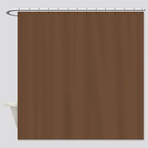 Solid Coffee Brown Shower Curtain