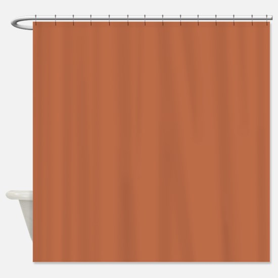 Solid Adobe Brown Shower Curtain