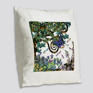 Wild Twisted Trees Burlap Throw Pillow