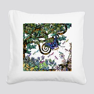 Wild twisted trees Square Canvas Pillow