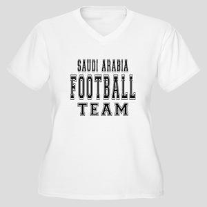 Saudi Arabia Foot Women's Plus Size V-Neck T-Shirt