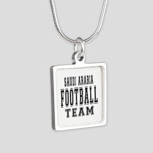 Saudi Arabia Football Team Silver Square Necklace
