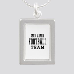 Saudi Arabia Football Te Silver Portrait Necklace