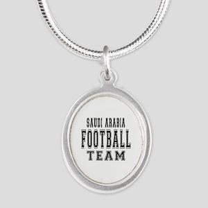 Saudi Arabia Football Team Silver Oval Necklace