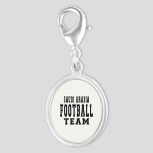 Saudi Arabia Football Team Silver Oval Charm