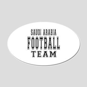 Saudi Arabia Football Team 20x12 Oval Wall Decal