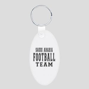 Saudi Arabia Football Team Aluminum Oval Keychain