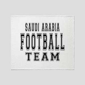 Saudi Arabia Football Team Throw Blanket