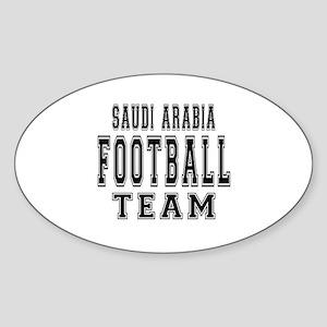 Saudi Arabia Football Team Sticker (Oval)