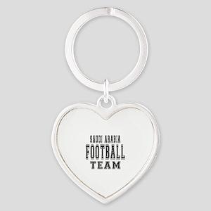 Saudi Arabia Football Team Heart Keychain