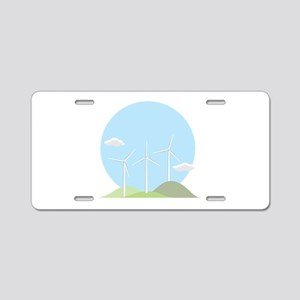 Wind Power Aluminum License Plate