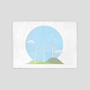 Wind Power 5'x7'Area Rug