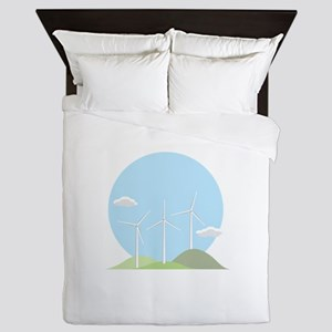 Wind Power Queen Duvet