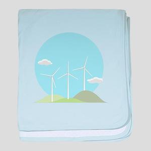 Wind Power baby blanket