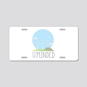 Eco Minded Aluminum License Plate