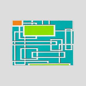 Mid-Century Modern Abstract 5'x7'Area Rug
