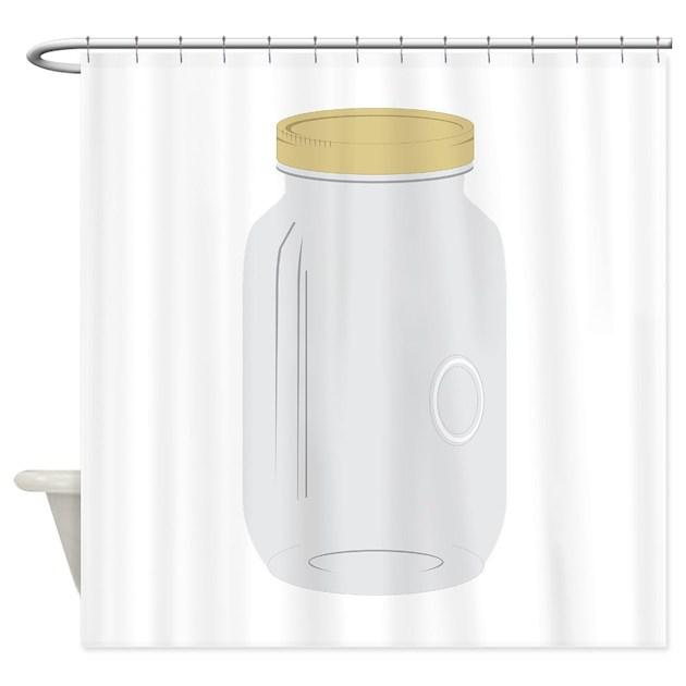 Mason Jar Shower Curtain By Embroidery7