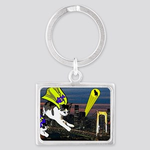 The Cat Signal Landscape Keychain