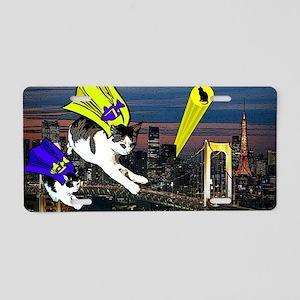 The Cat Signal Aluminum License Plate
