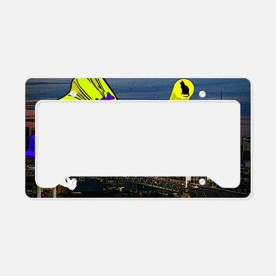 The Cat Signal License Plate Holder